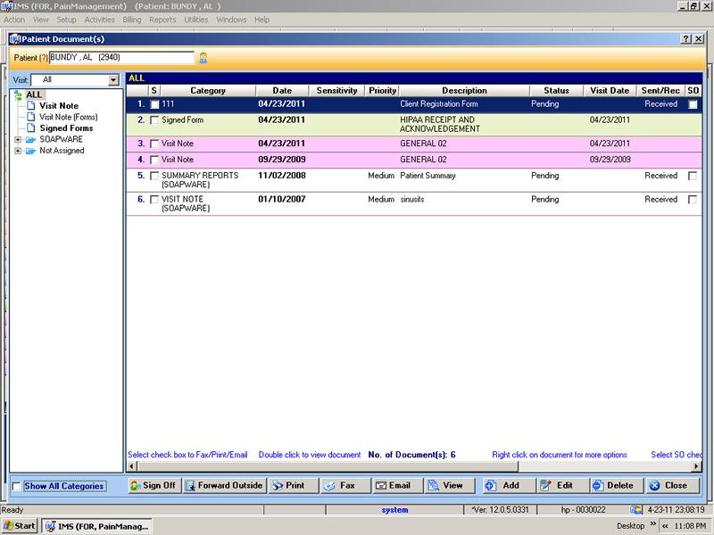 pain management emr software