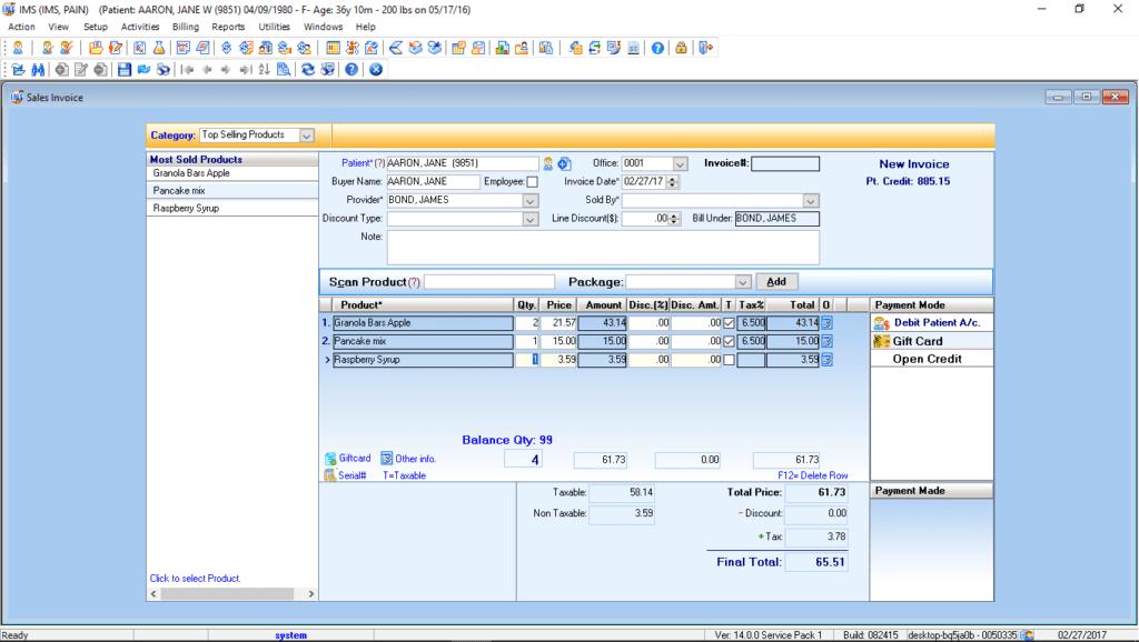 pain management billing software