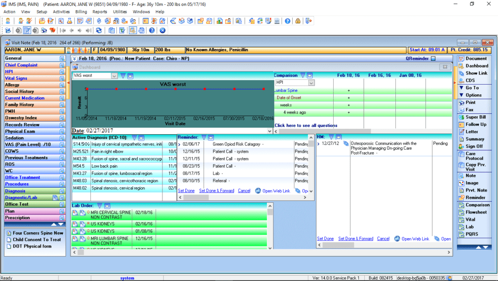pain management ehr software